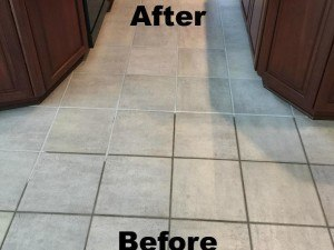 Tile and Grout Cleaning Before After Picture